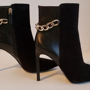 Black New Nine West Tyronah Bootie Sz 7 1/2